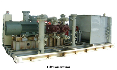 natural gas compressor. typical lift compressor natural gas