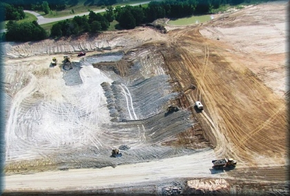 EOG Frac Sand Mining facility on Cooke County, Texas